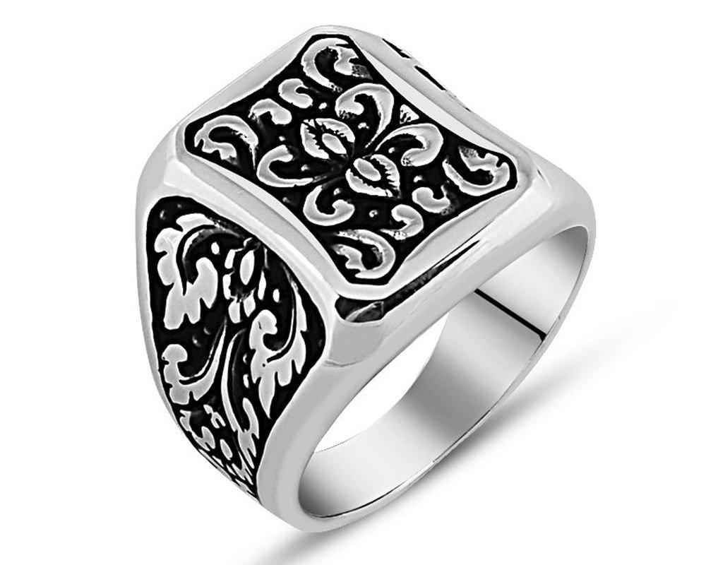 925 Ayar Gümüş Otantik İşlemeli Yüzük