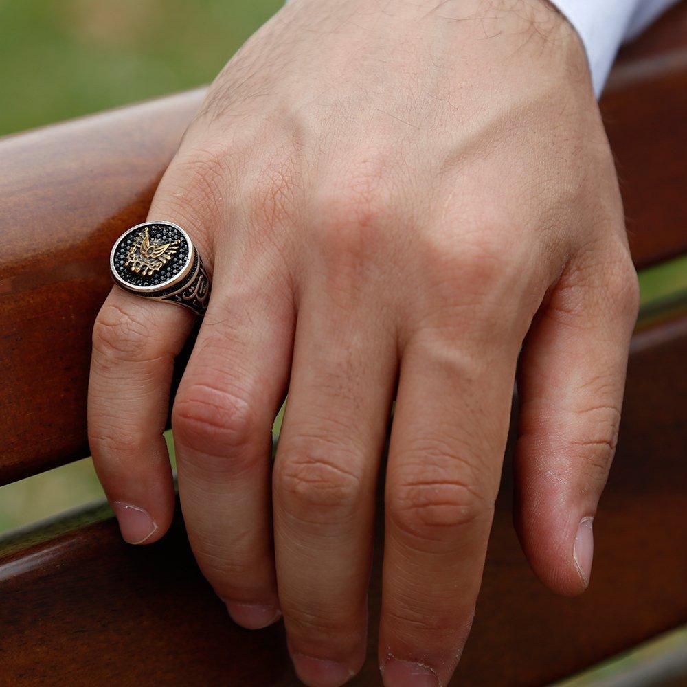 925 Ayar Gümüş Oval Armalı Vatan Millet Yüzüğü