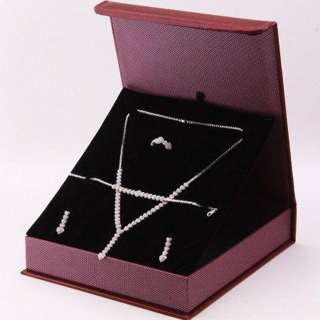 925 Ayar Gümüş Özel Hediye Kutulu Zirkon Taşlı Set (Model-1) - Thumbnail