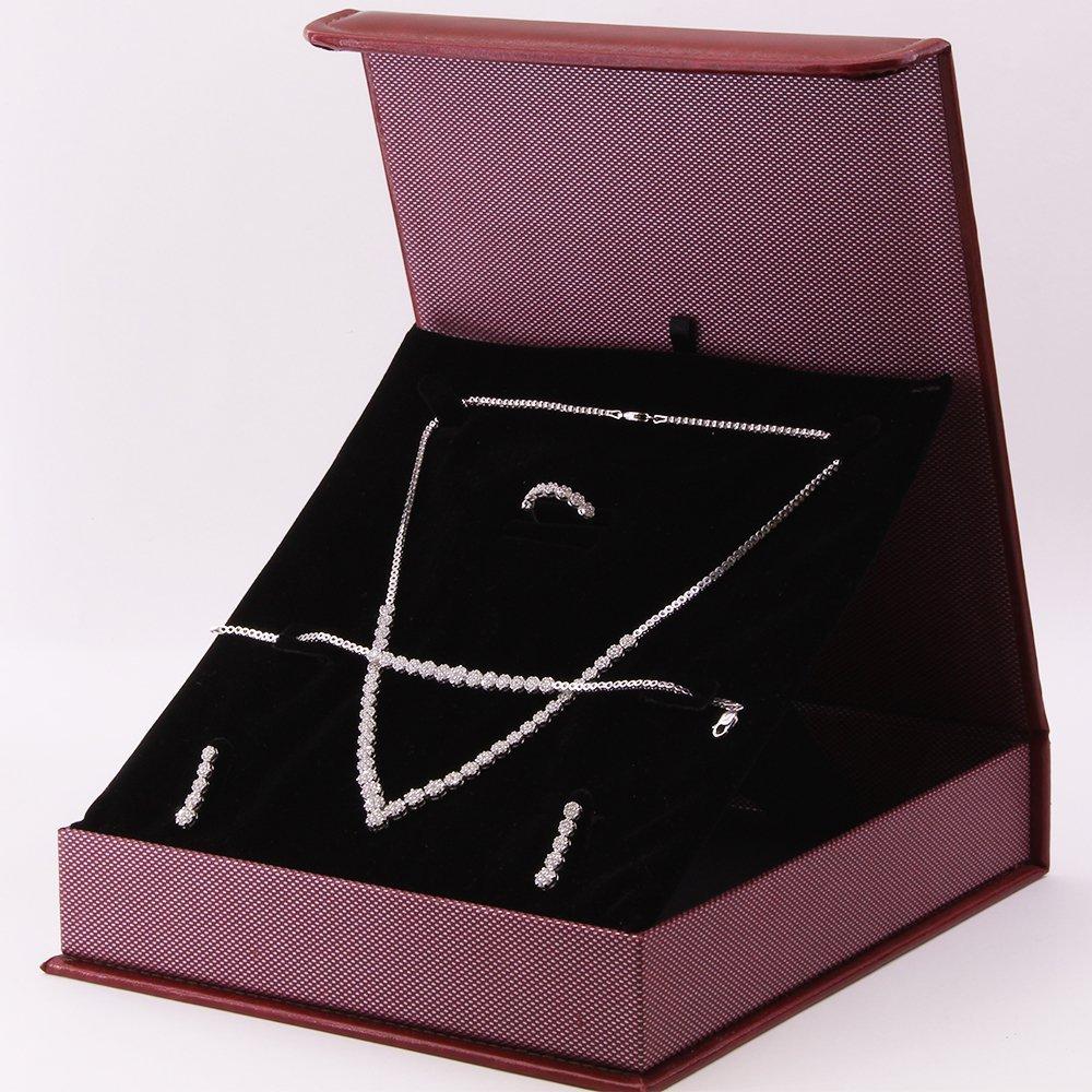 925 Ayar Gümüş Özel Hediye Kutulu Zirkon Taşlı Set (Model-8)