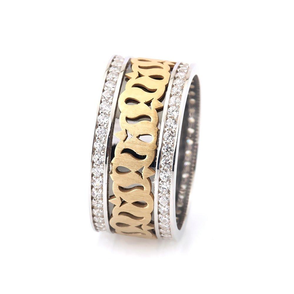 Lale Motifli Zirkon Taşlı 925 Ayar Gümüş Bayan Alyans