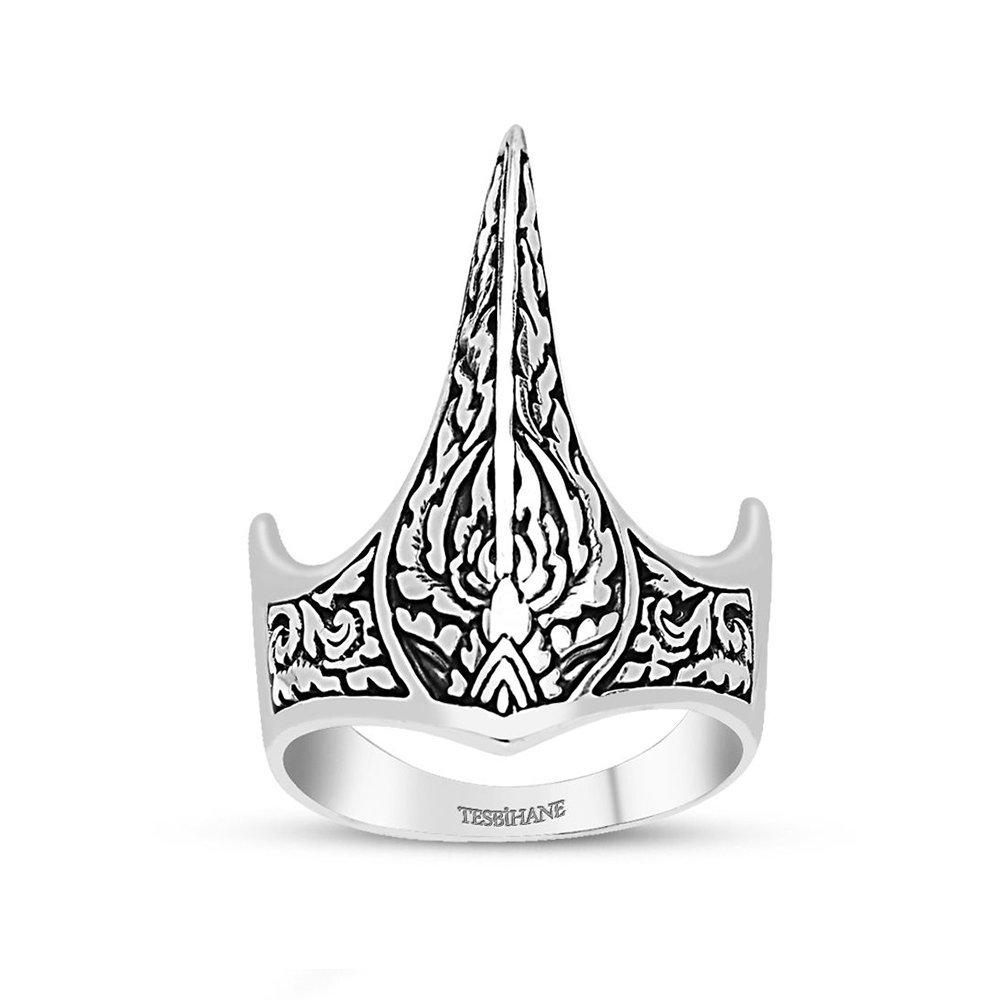 925 Ayar Gümüş Özel Tasarım Okçu (Zihgir) Yüzüğü