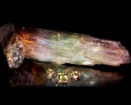 925 Ayar Gümüş Püsküllü Fasetalı Arpa Kesim Kahverengi Sultanit Tesbih - Thumbnail