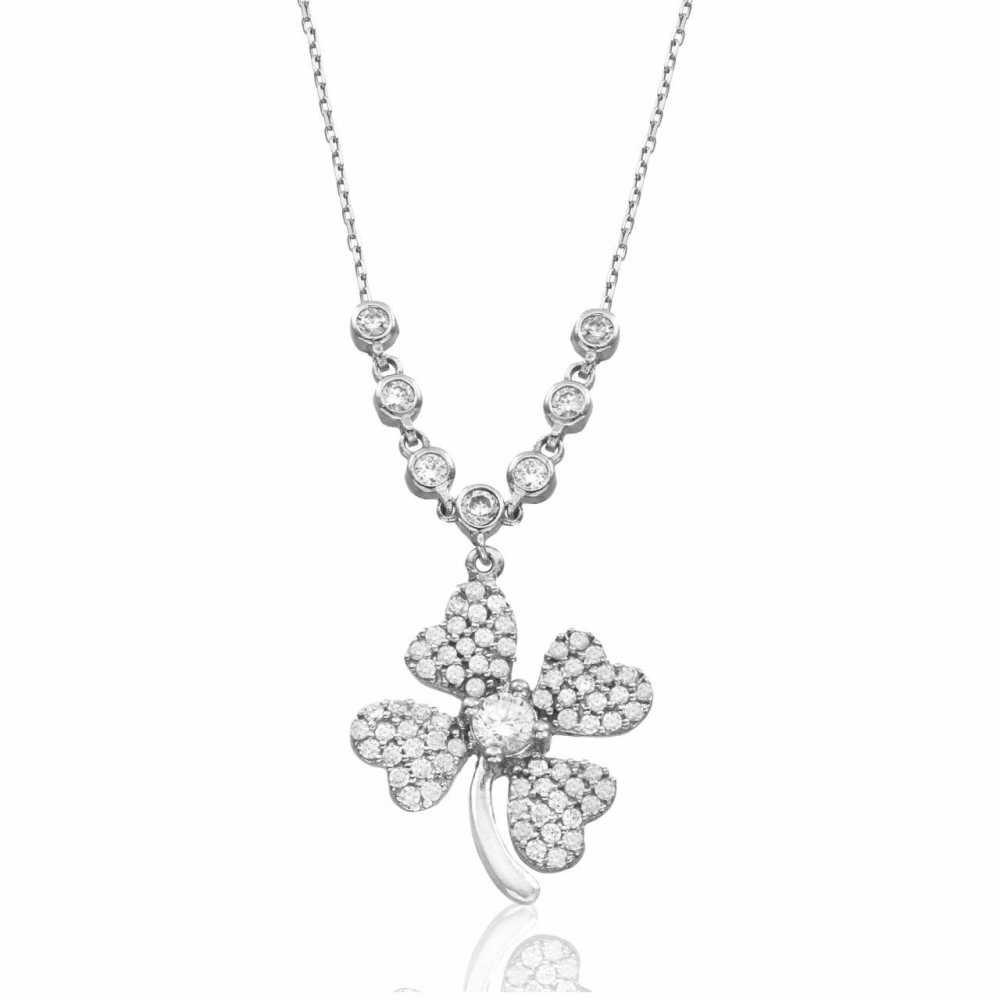 925 Ayar Gümüş Su Yolu Çiçek Kolye