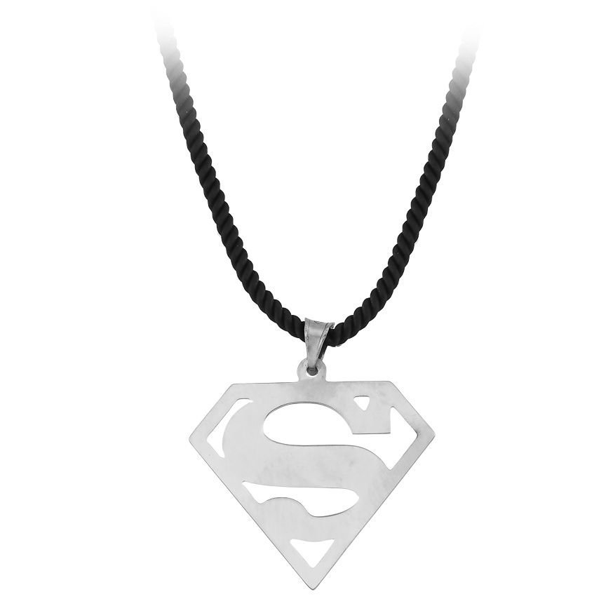 Supermen Tasarım 925 Ayar Gümüş Erkek Kolye