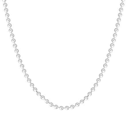 925 Ayar Gümüş Toplu Bayan Zincir Kolye - Thumbnail