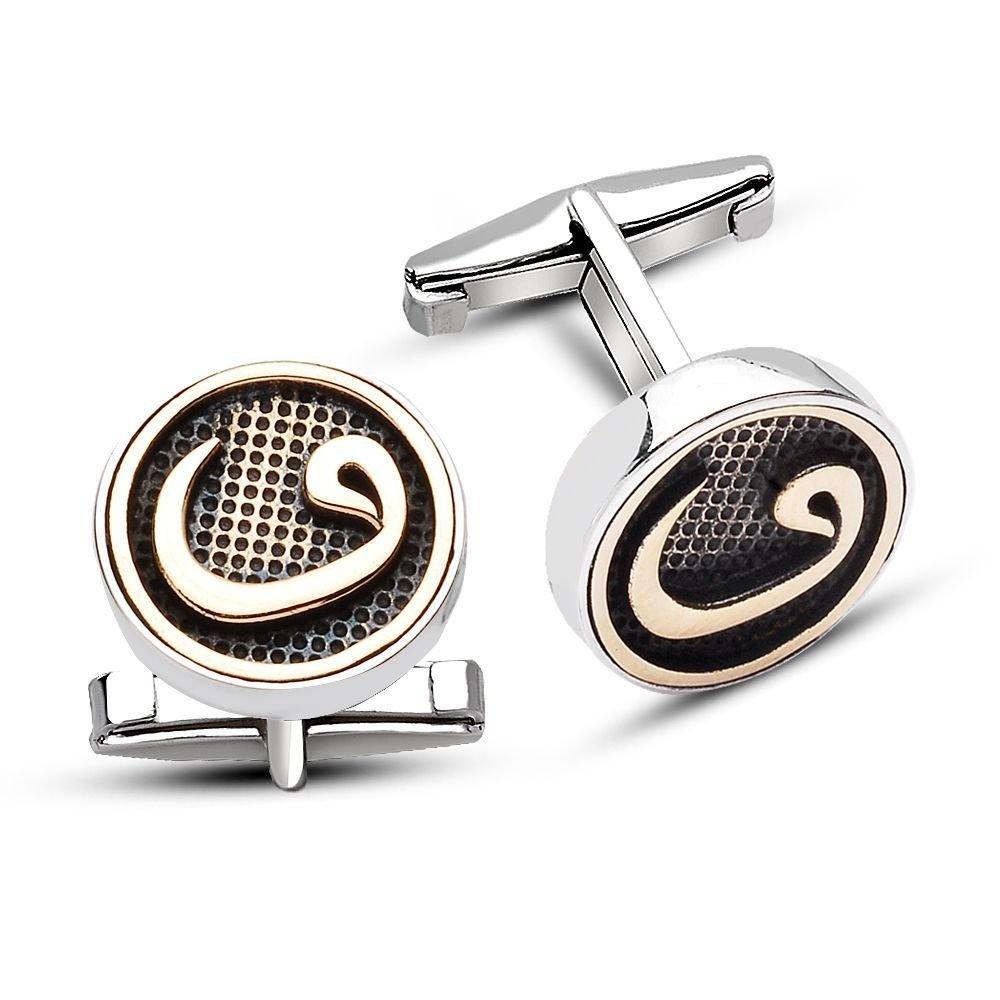 925 Ayar Gümüş Vav Model Kol Düğmesi
