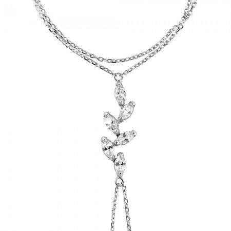 Sarmaşık Tasarım Zirkon Taşlı 925 Ayar Gümüş Şahmeran Bileklik - Thumbnail