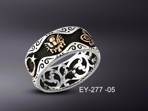 925 Ayar Gümüş Yüzük Tesbih Kombin