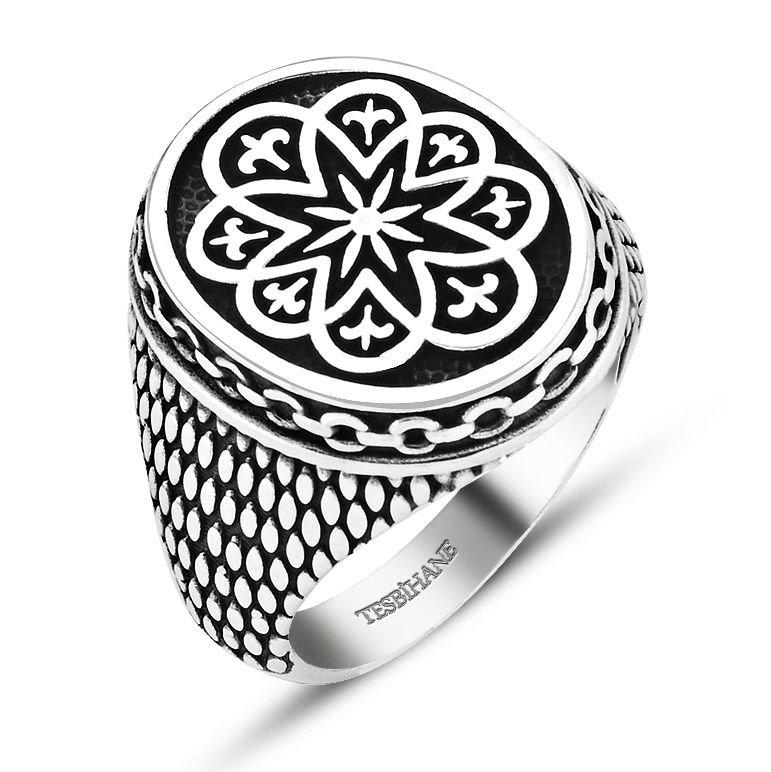 925 Ayar Gümüş Zincir Model Dekoratif Yüzük