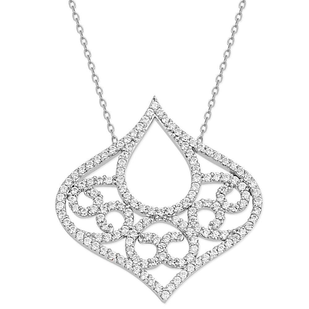 925 Ayar Gümüş Zirkon Taşlı Estetik Kolye