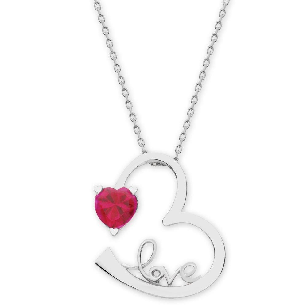 925 Ayar Gümüş Zirkon Taşlı Kalp Sonsuzluk Love Kolye