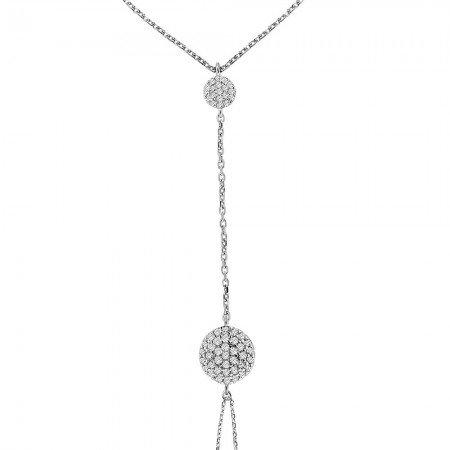 Yuvarlak Tasarım Yoğun Zirkon Taş İşlemeli 925 Ayar Gümüş Şahmeran Bileklik - Thumbnail