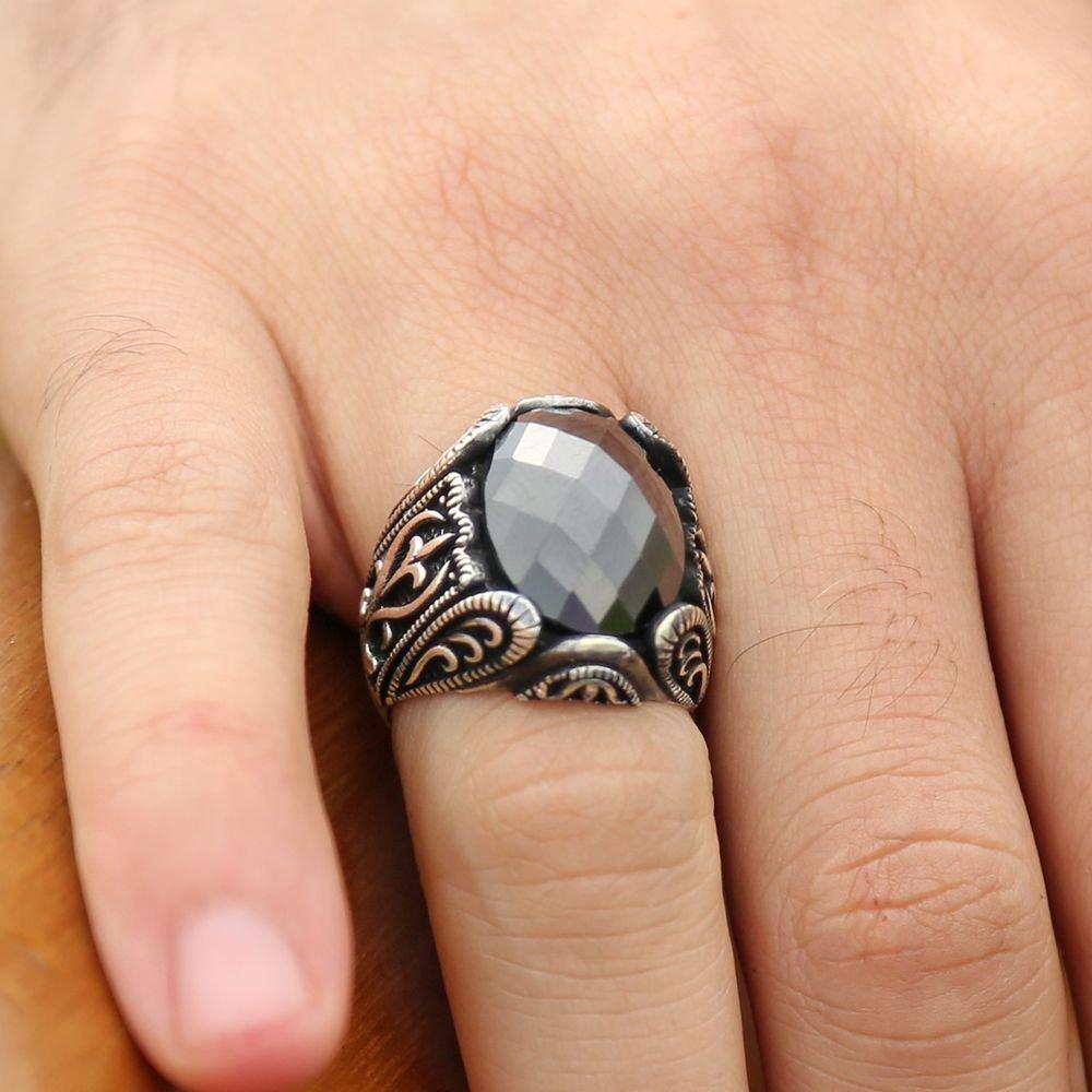 925 Ayar Gümüş Zirkon Taşlı Yüzük
