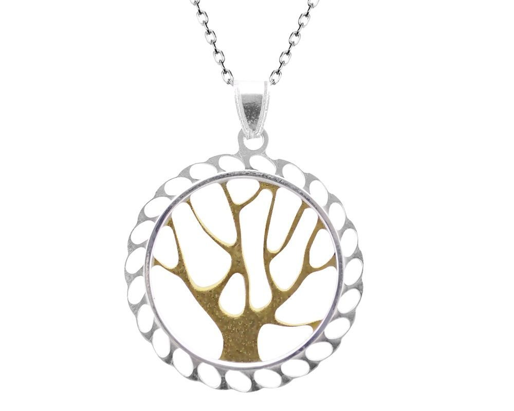 925 Gümüş Hayat Ağacı Kolye-2