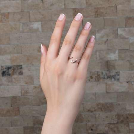 Ay Tasarım 925 Ayar Gümüş Bayan Yüzük - Thumbnail