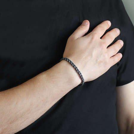 El İşçiliği Örgü Tasarım 1000 Ayar Gümüş Kazaz Bileklik - Thumbnail