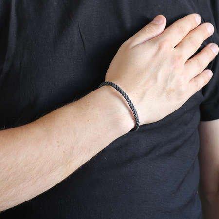 El İşçiliği Zincir Tasarım 1000 Ayar Gümüş Kazaz Bileklik - Thumbnail