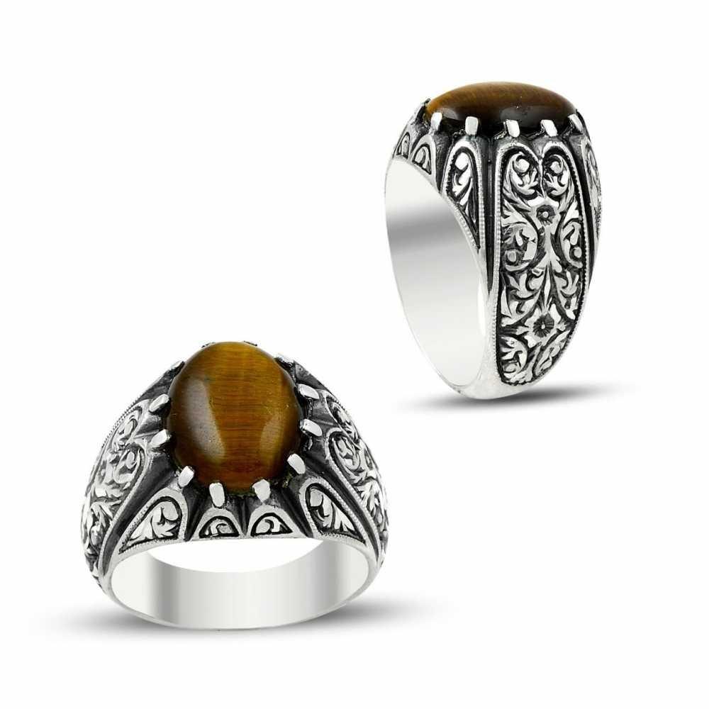 Erzurum El İşi 925 Ayar Gümüş Yüzük