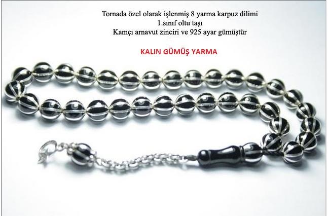 Erzurum Oltusu 8 yarma Karpuz Dilimli Tesbih