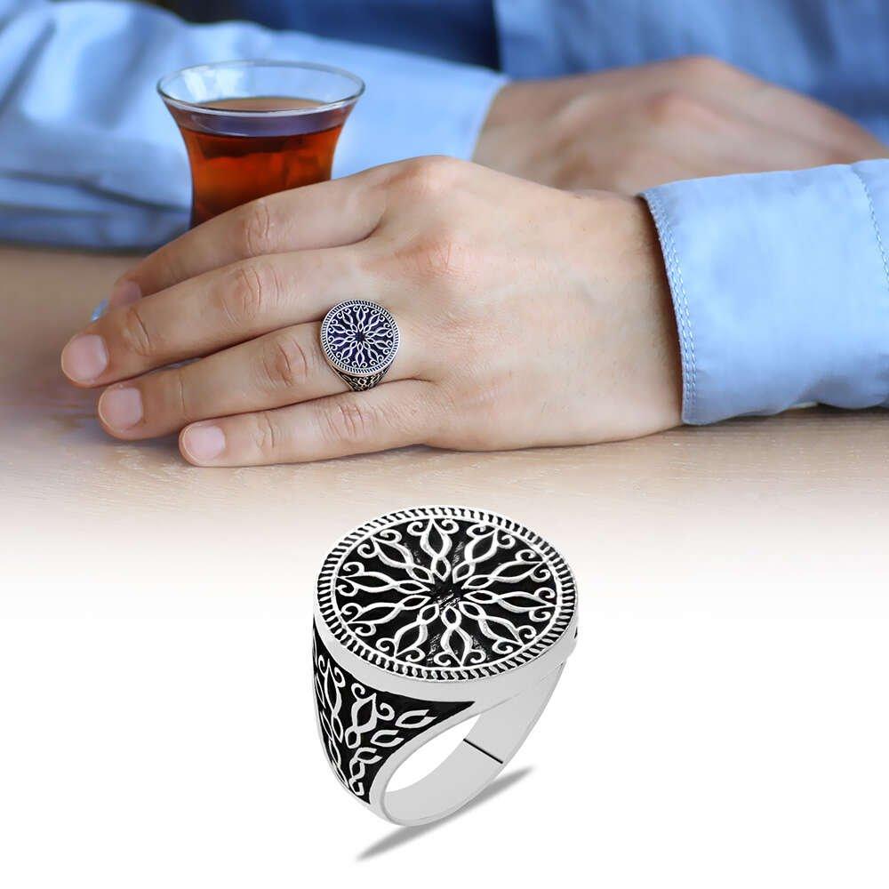 Ferforje Tasarım 925 Ayar Gümüş Erkek Yüzük