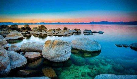 Göl Manzaralı Kanvas Tablo - Thumbnail
