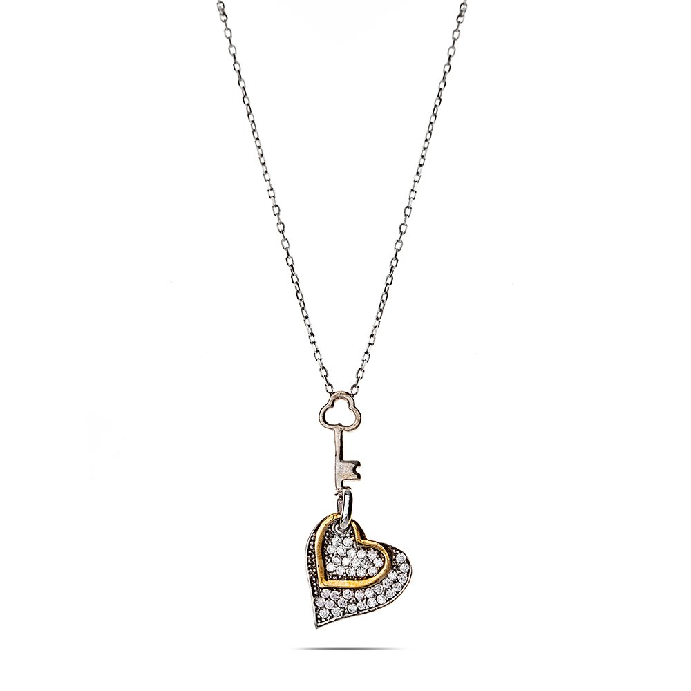 Gümüş Kalbimin Anahtarı Kolye