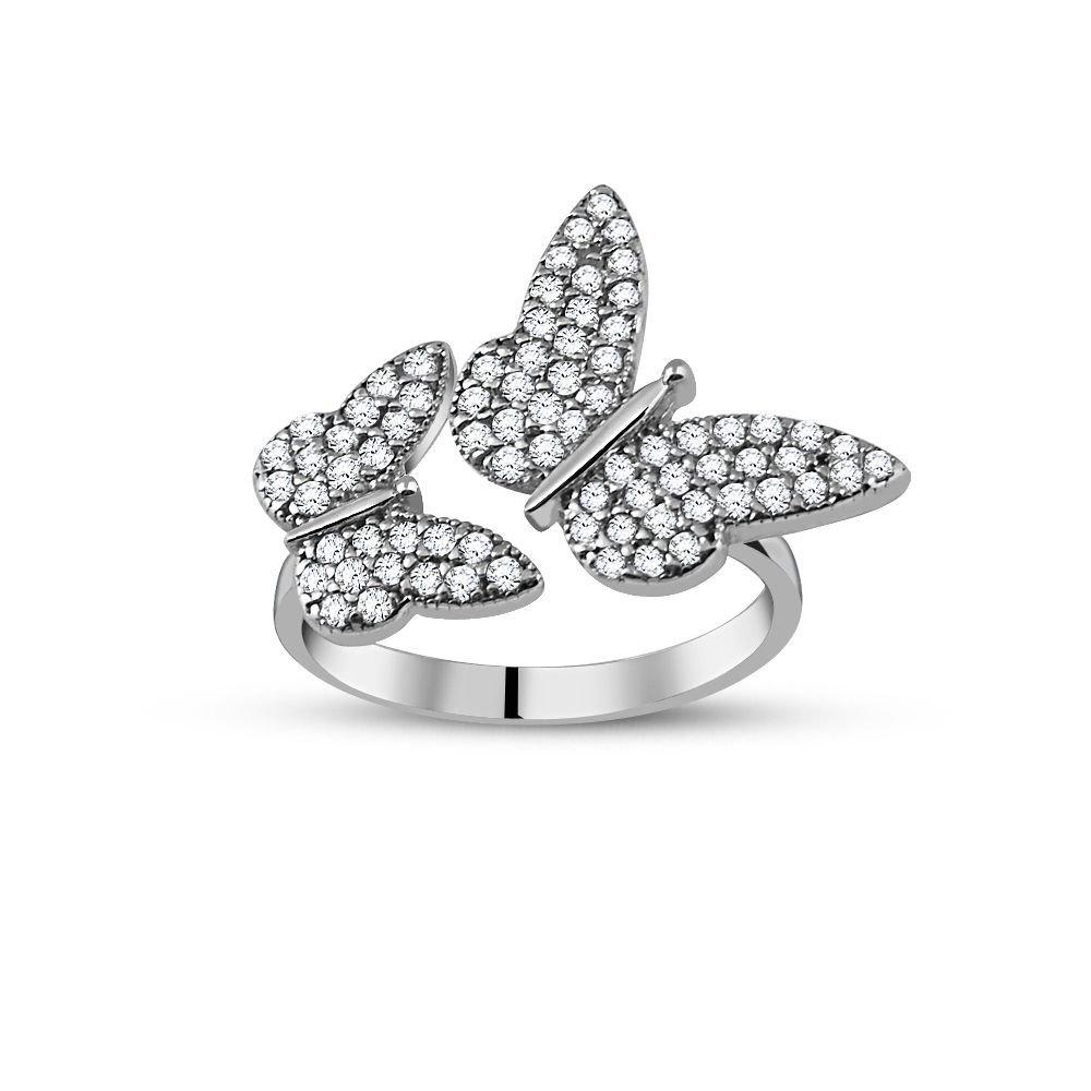 Gümüş Kelebek Tasarım Yüzük