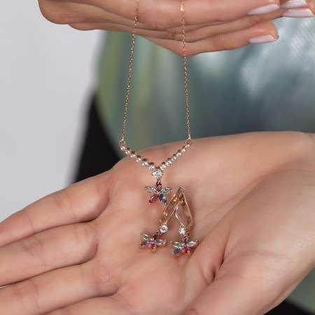 Gümüş Renkli Çiçek Model Set - Thumbnail