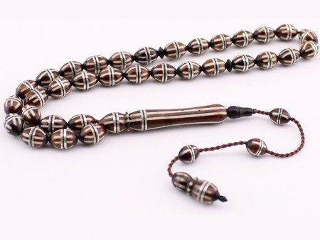 Gümüş Sarmal ve Mine İşlemeli Kuka Tesbih - Thumbnail