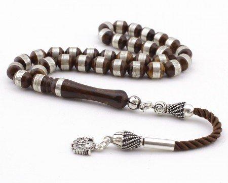 Gümüş Sarmallı ve Gümüş Püsküllü Kuka Tesbih - Thumbnail