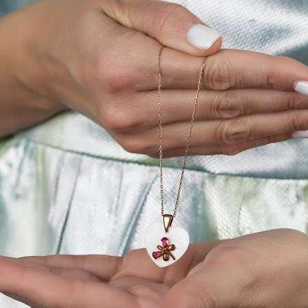 Gümüş Sedef Üzerine Yusufcuk Kolye - Thumbnail