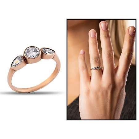 Gümüş Taşlı Bayan Yüzük - Thumbnail