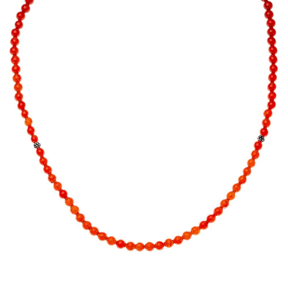 Hem Bileklik - Hem Kolye - Hem Tesbih 99'lu Kırmızı Akik Doğaltaş Takı