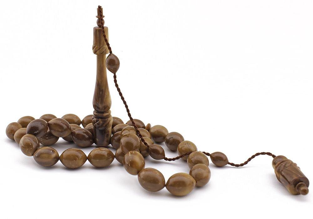 İbrahim Uysal Ustadan El Yapımı Mevlevi Model Kuka Tesbih - 2