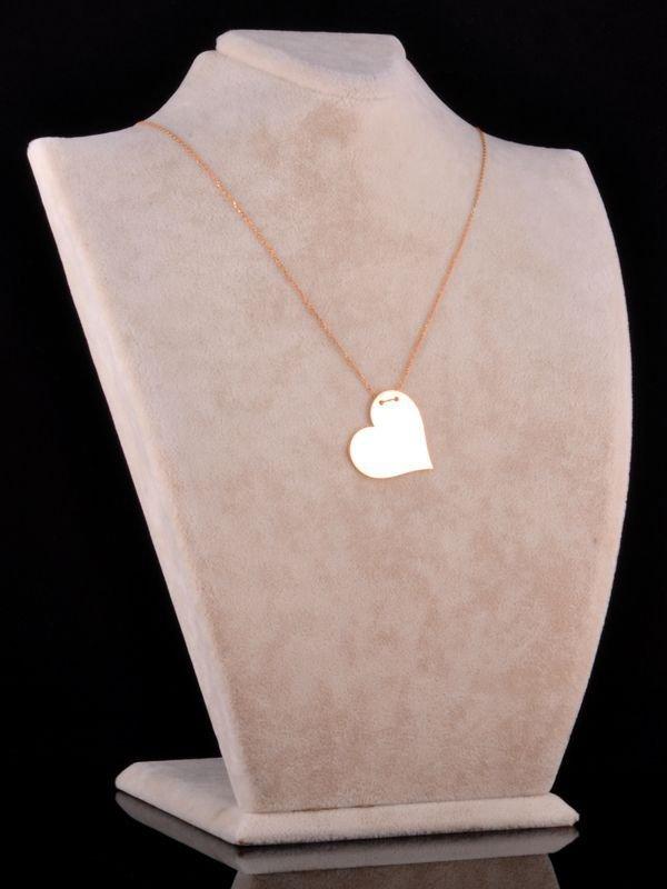 İki İsimli Plaka Kalp Kolye