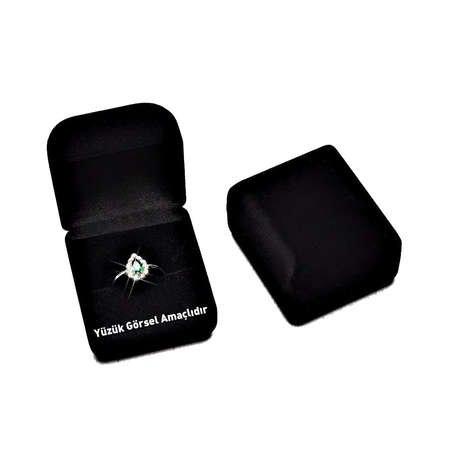 Siyah Renk Kadife Yüzük Kutusu (M-1) - Thumbnail
