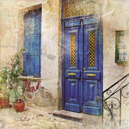 Kapı Temalı Kanvas Tablo - Thumbnail