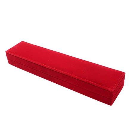 Kırmızı Renk Kadife Tesbih Kutusu - Thumbnail