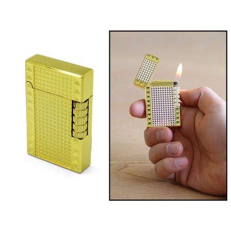Kişiye Özel İsim Yazılı Dupont Tasarım Zenit Mekanizmalı Sarı Renk Taşlı Metal Çakmak - Thumbnail
