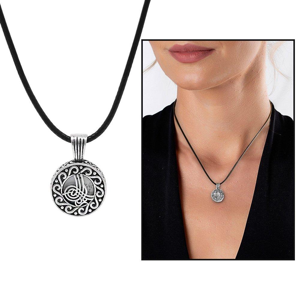 Kişiye Özel İsim Yazılı Üzeri Tuğra Temalı 925 Ayar Gümüş Cevşen Kolye