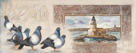 Kız Kulesi-Kumru Temalı Kanvas Tablo - Thumbnail