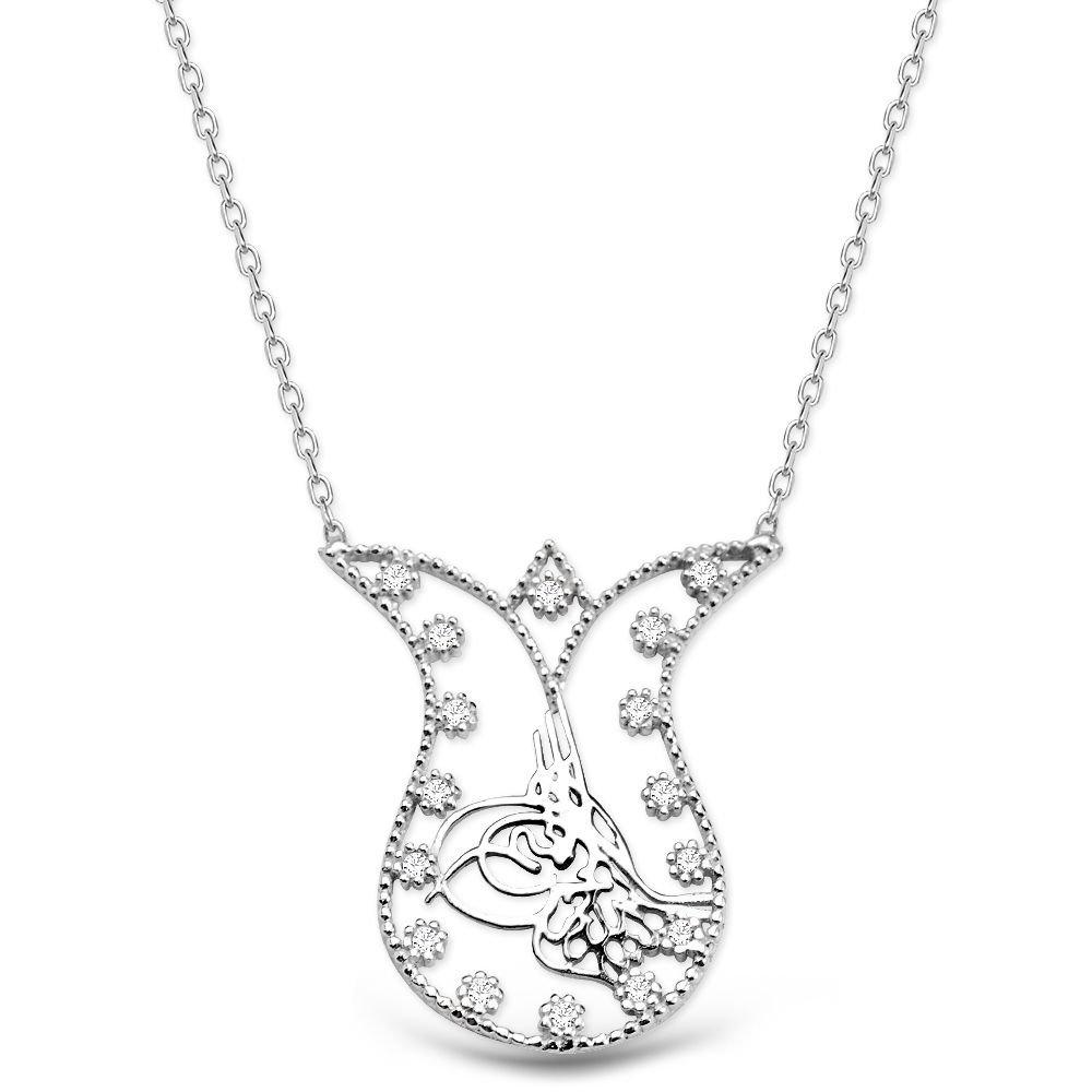 Lale ve Tuğra Tasarım 925 Ayar Gümüş Kolye