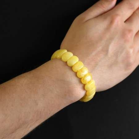 Limon Sarısı Beyrut Kehribar Rolex Bileklik - Thumbnail