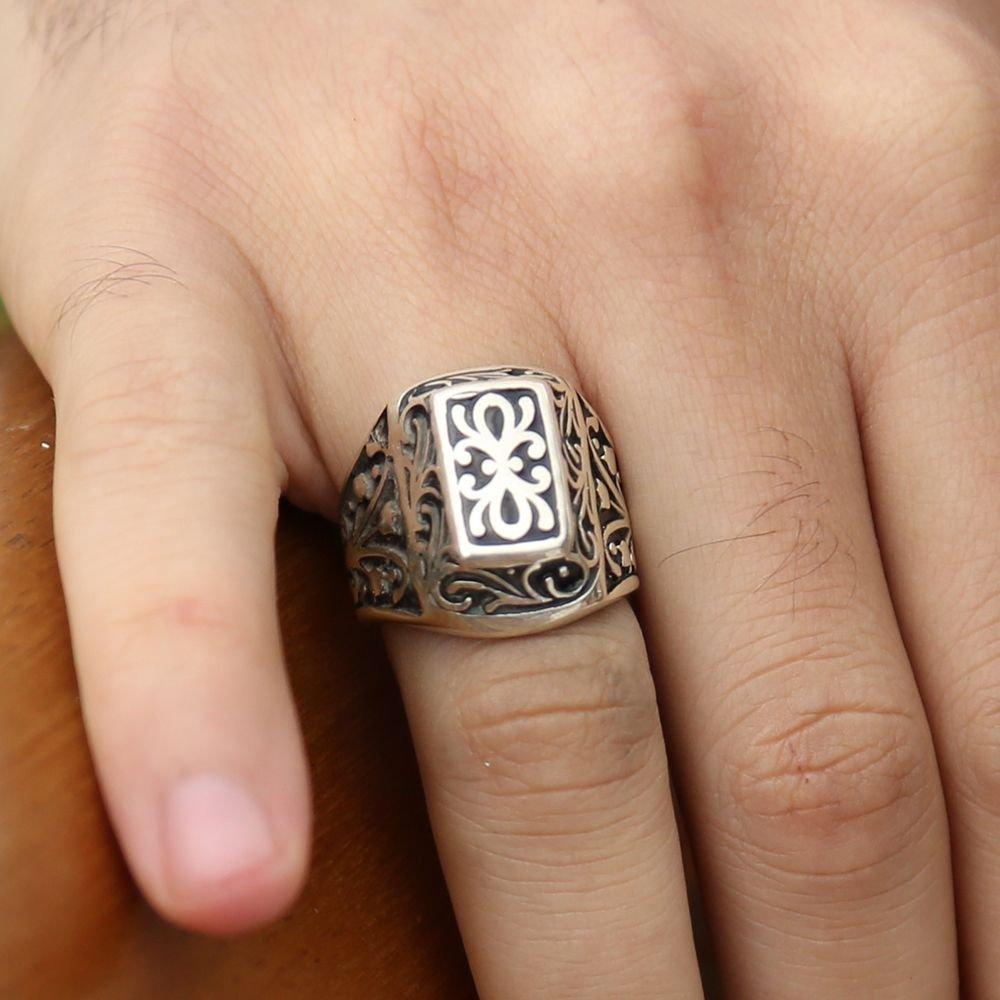 Lisanslı 925 Ayar Gümüş Kurtlar Vadisi Yüzüğü