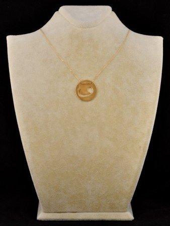 Madalyon Vav Kolye (Sarı) - Thumbnail