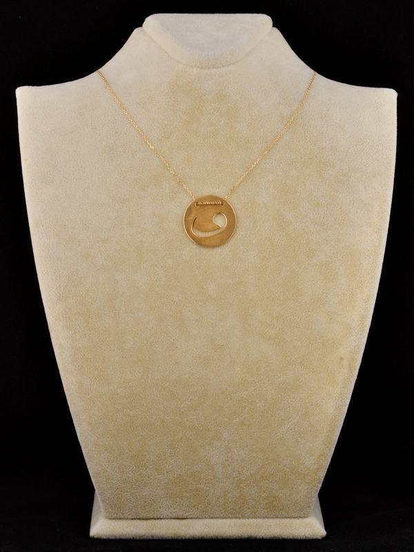 Madalyon Vav Kolye (Sarı)