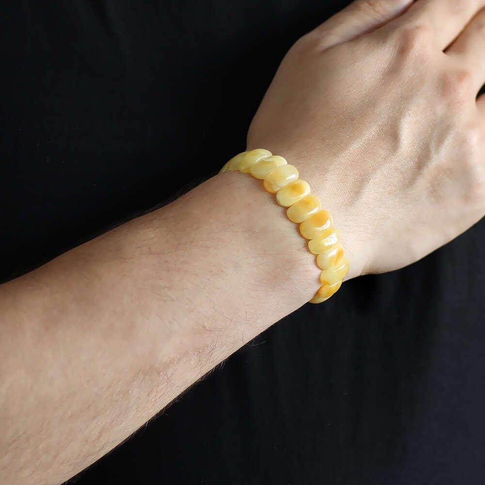 Mat Kristal Sarı Doğal Damla Kehribar Rolex Bileklik