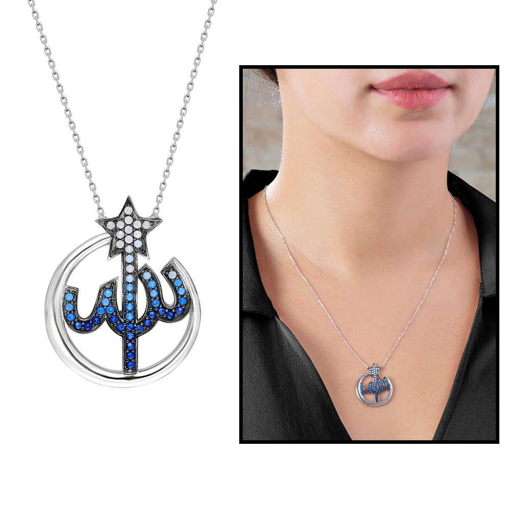 Mavi Zirkon Taşlı Arapça