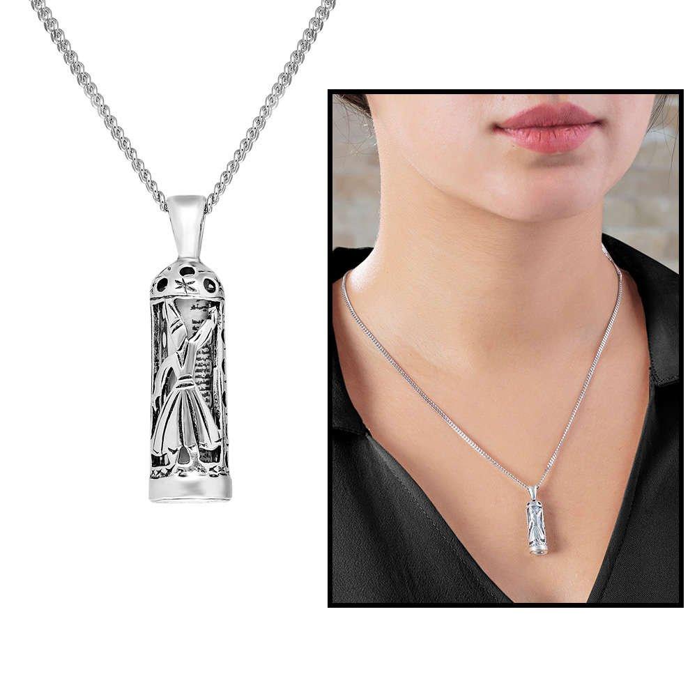 Mevlevi Tasarım 925 Ayar Gümüş Cevşen Kolye
